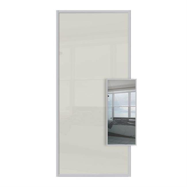 Domalti 1 panel Arctic White/mirror 36'' (CS)