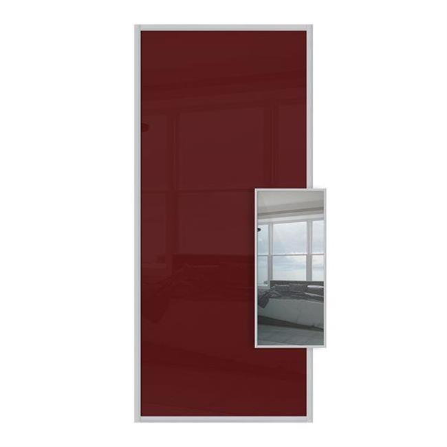 Domalti 1 panel maroon/mirror 30'' (CS)