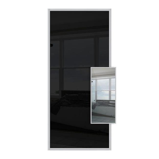 Domalti 1 panel black/mirror 24'' (CS)