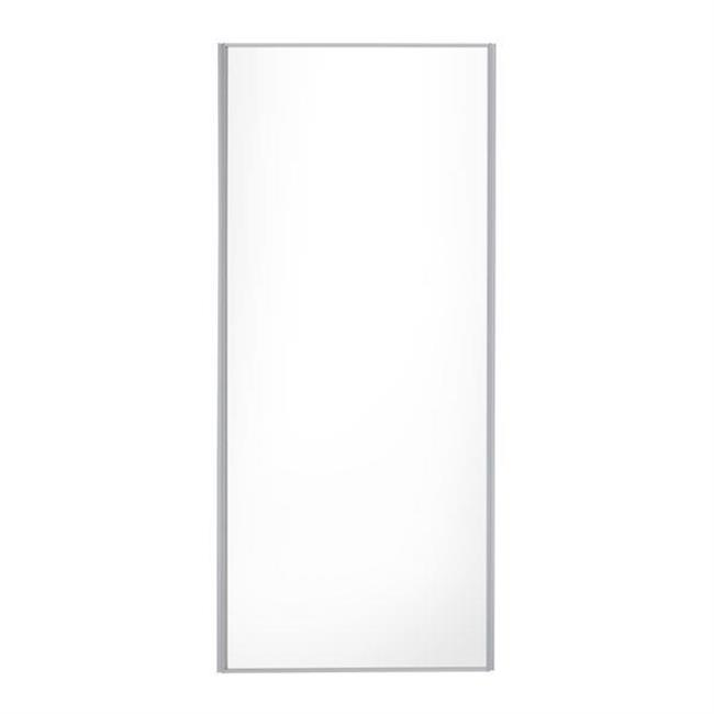 "Door 24""/ 610mm white glass/ silver frame/ silver strips"