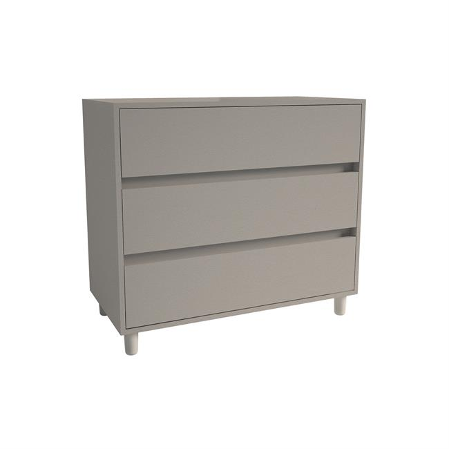 Chest of 3 Drawers 2 Stone Grey