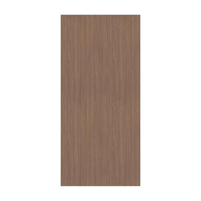 Spacepro Mild Walnut 620mm wide end panel and 10 fixing bloc