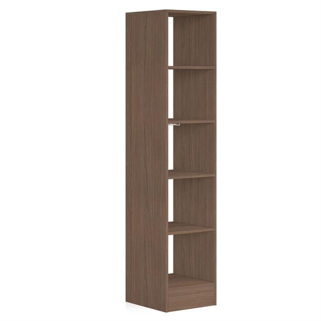 450 Tower (5 shelves) NO Hanger Bars Mild Walnut