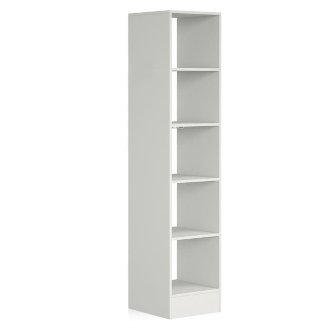 450 Tower (5 shelves) NO Hanger Bars Platinum White