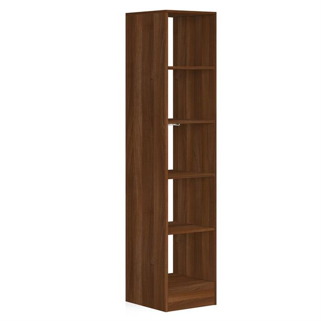 450 Tower (5 shelves) NO Hanger Bars Walnut
