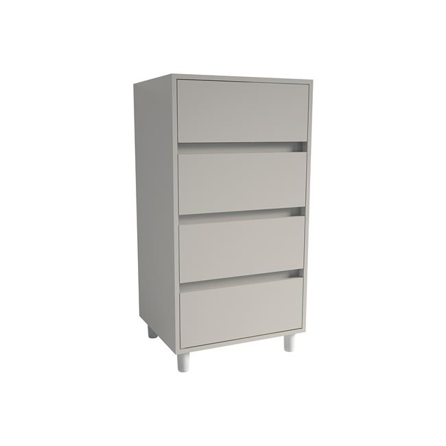 Tall Boy 4 drawer 2 Cashmere