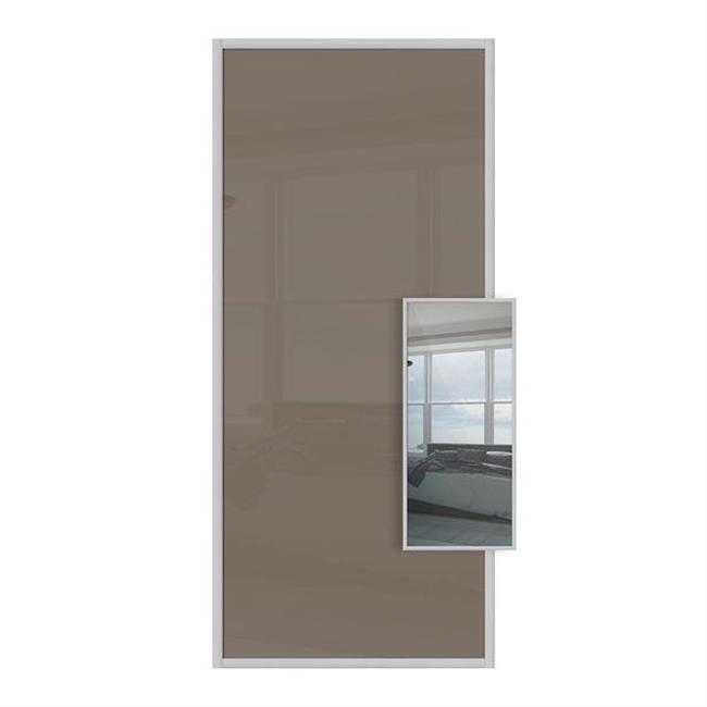 Domalti 1 panel cappuccino/mirror 36'' (CS)